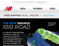 New Balance Email Template