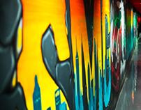 SMG Mini Cooper Graffiti Mural