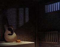 Guilty Guitar - 3D scene
