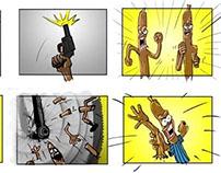 Peperami ad storyboard