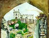 Golconda Spot Painting water colors