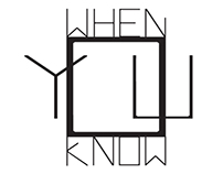 When You Know - logo design