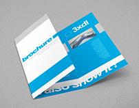 Tri-Fold DL Brochure Mock-up (no hands version)
