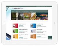 Diseño web corporativa Platinum Travel Tour Operator