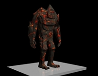 Lava Giant - 3D modelling and animation
