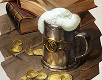 Interior illos for tabletop games: props and still life