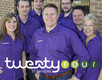 Twenty Four IT   Branding, Print Design & Web Design