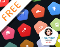 Gmarellile Flat Icons Vol2.0 For FREE