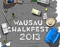 Wausau Chalkfest Tshirt 2013