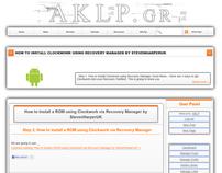 AKLP.gr Wordress Theme Design