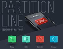 partition line