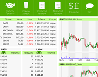 UI for trading software