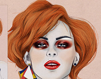 Coloring a Beauty Sketch in Photoshop