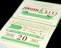 Wedding Invites: Jürgen & Siti