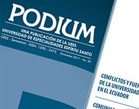 Diseño y diagramación Revista Podium / UEES