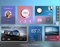 FREE User Interface / IU kit with Cold Colors .PSD