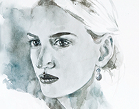 my watercolor portraits