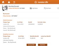 London Life CRM banking App