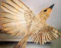 Old paper bird