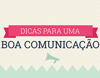 Infográfico - Dicas para uma Boa Comunicação