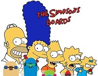 The Simpsons Boards - T-Shirt Design