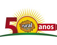 Logo e Selo Comemorativo 50 Anos Rádio Rural