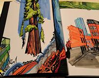 Marker sketchbook