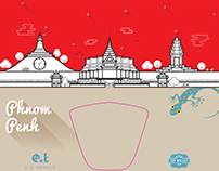 Phnom Penh cityscape for Loy Wallet
