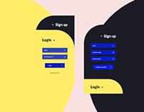 Login - Sign up / Mobile App Form