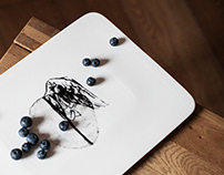 Artwork as a Porcelain Tray / Merit