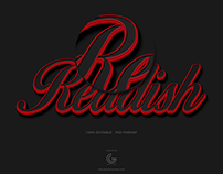 Free Reddish Photoshop Text Effect