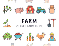 Farm Vector Free Icon Set
