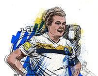 Leeds Ladies FC Illustrations - The Square Ball