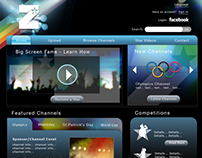 Zozzy TV Website Design