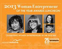 2013 Women Entrepreneur of Year Awards Luncheon Brand