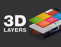 3D Layers Photoshop Actions