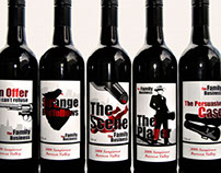 'The Family Business' - wine labels