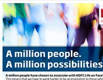 1 Million Fans Emailer - HDFC Life