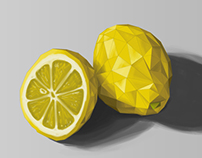 Low Poly Fruits by Martin Schneider