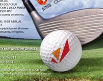Afiche torneo de golf funza
