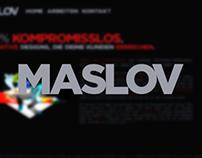 MASLOV portfolio website