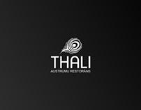 Thali. Oriental restaurant. Logo re-branding.