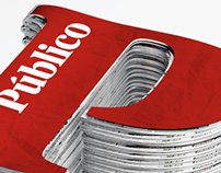 Público - 3D newspaper pile