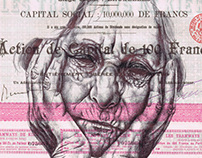 'lung infection' Bic biro drawing on a 1905 document