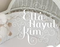 Lettering for Ella