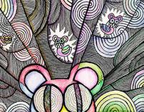 Radiohead bear in rainbows