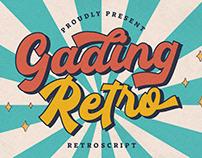 GADING RETRO RETRO SCRIPT - FREE FONT