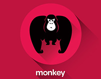 Monkey and Gorilla logo template Vector
