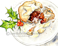 Happy Holidays // Scrummy Mince Pies & Cream