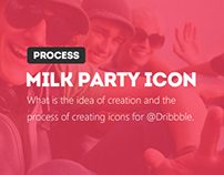 Milk Party on @Dribbble! =) UPDATE+